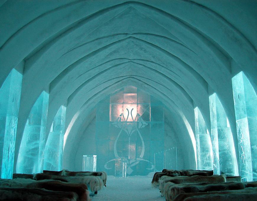 Ice Hotel Church @ Jukkasjärvi, FInland