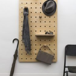Peg It all Peg Board by Kreisdesign - Handcrafted FSC certified birch plywood peg board is perfect for hallways, kids rooms or home offices, this well-made, chunky peg board adds Scandinavian style to any space including your for home office