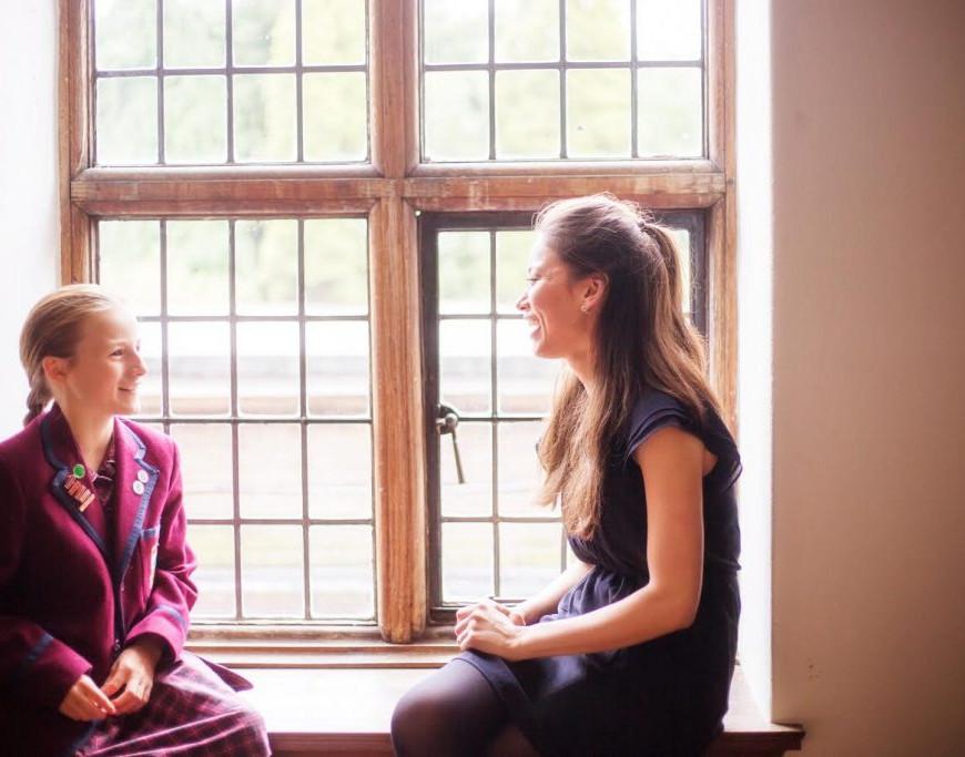 Aimee Tan with Barrow Hills pupil