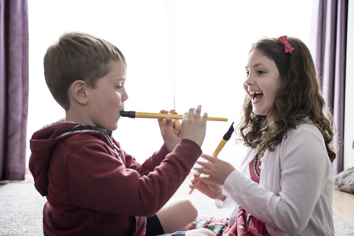 The benefits that children gain from playing an instrument