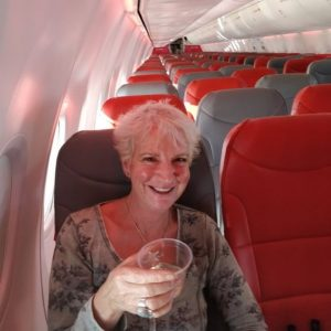 Karon Grieve only passenger on holiday flight