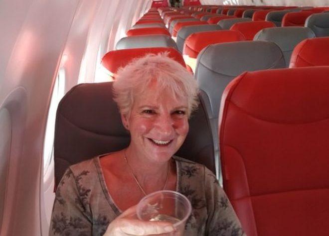Karon Grieve only passenger on holiday flight