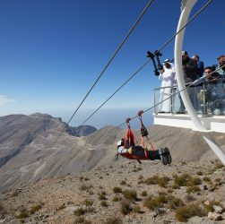 World's longest Zipline by Ras al Khaimah Tourism Development Authority, Jebel Jais
