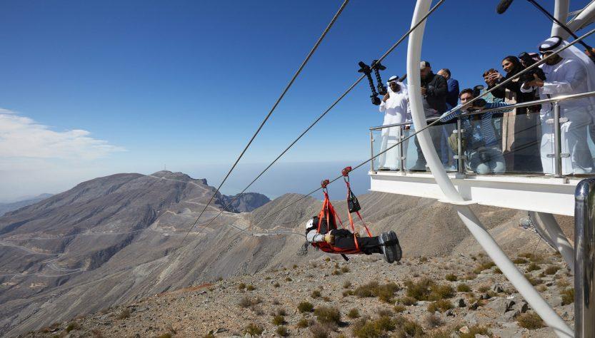 World's longest Zipline by Ras al Khaimah Tourism Development Authority, Jebel Jais