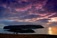 Sunset on the Calf of Man by Tee Cee (CC-by-2.0) https://www.flickr.com/photos/tcee35mm/15388495356