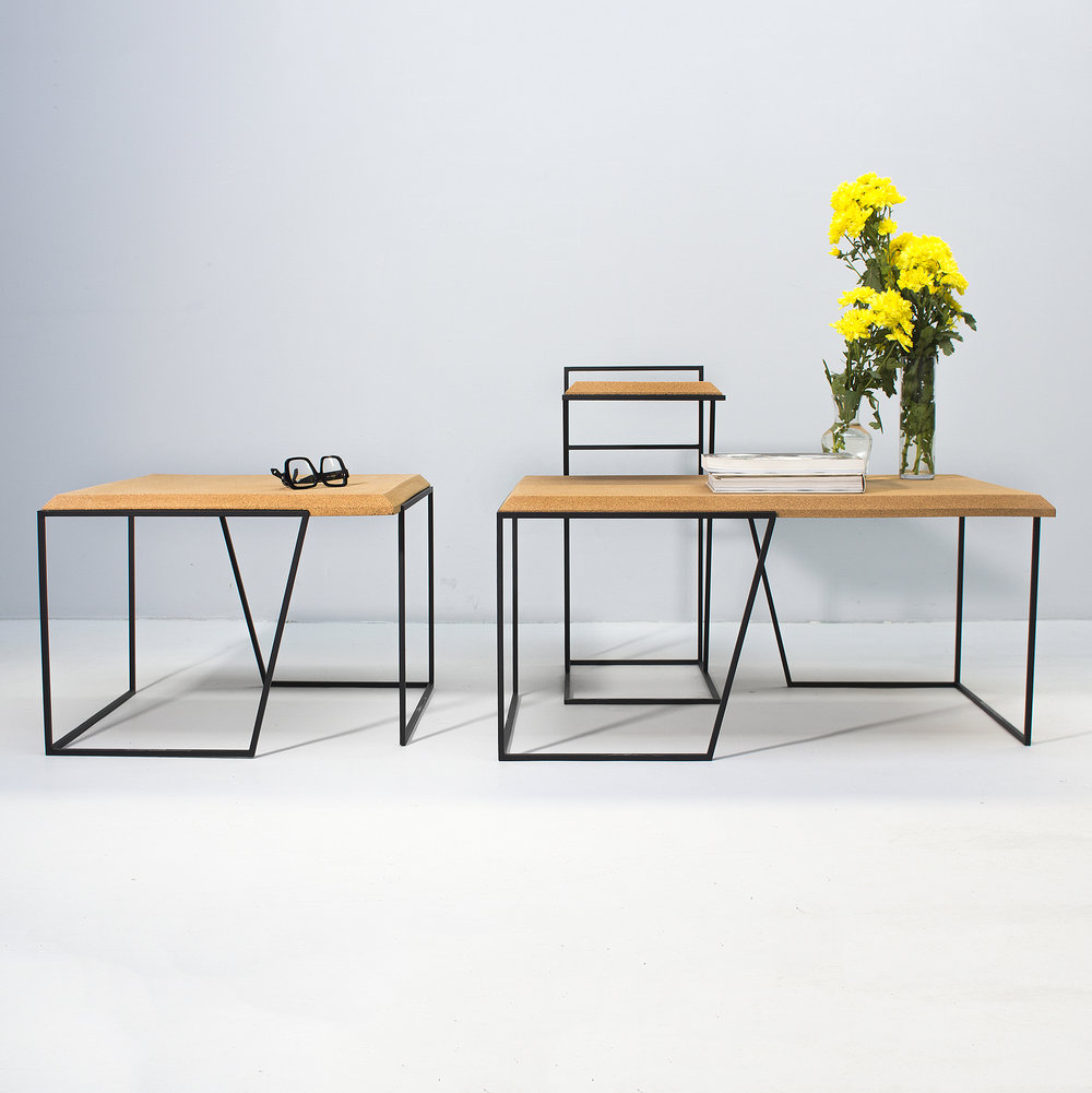 Grão collection Cork & Steel Tables: Product of the week