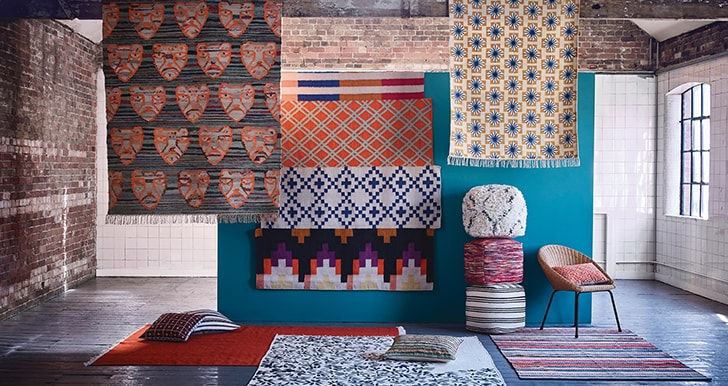 habitat patterned rugs interior trends for 2019 nomad look
